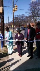 (l to r) Wendy Jackson, Barbara Shores, Mayor William Bell, Dr. Mark Wilson, public health officer for the Jefferson County Department of Health