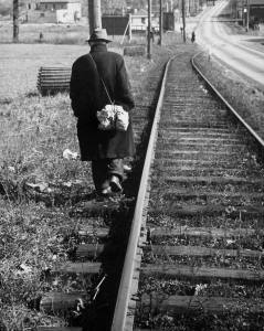 Photo credit: Life Magazine Walking the rails during the Great Depression.  Date and location unknown.