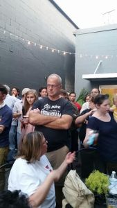 Part of the crowd at Yellowhammer Creative's town hall meeting at Trim Tab Brewery