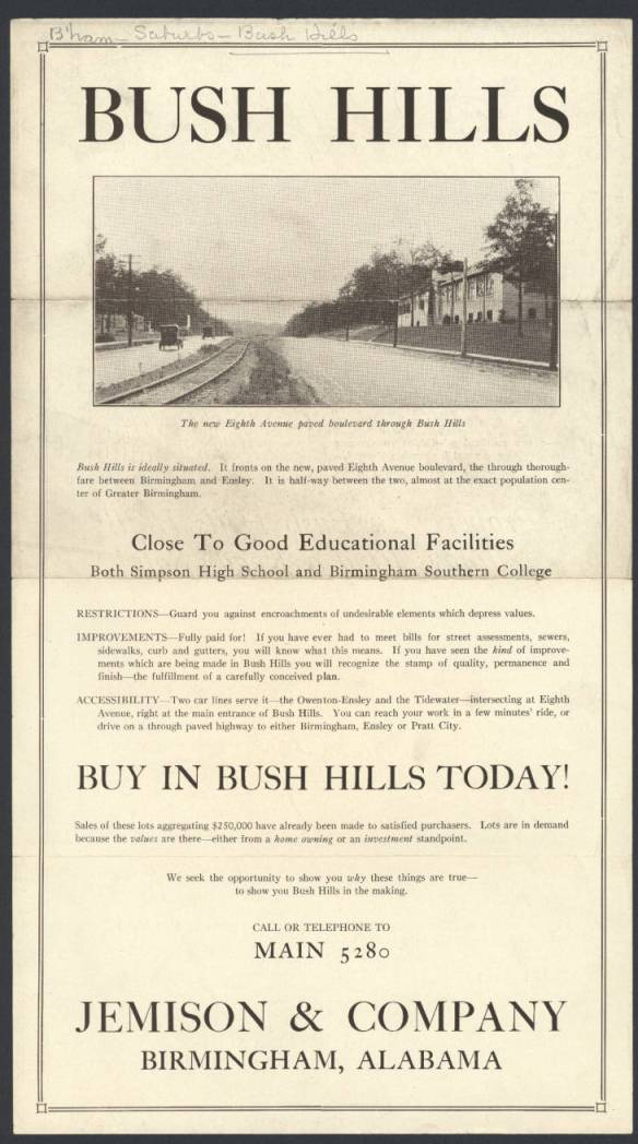 Bush Hills Sales Flyer