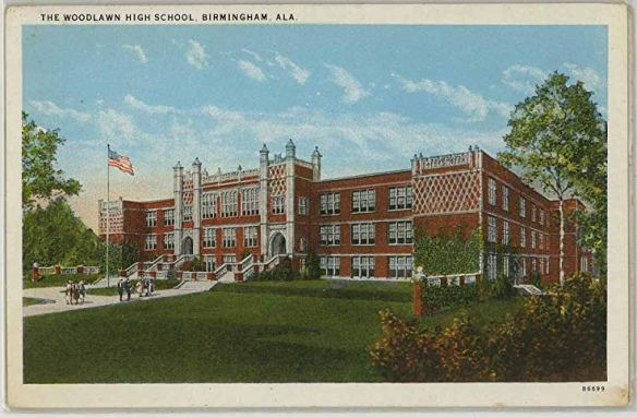 Woodlawn High School_1920s postcard